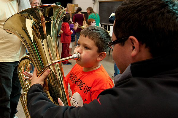 Instrument Petting Zoo - University of North Texas College of Music