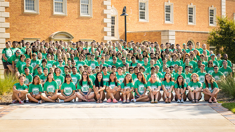 UNT College of Music Class of 2023 posing