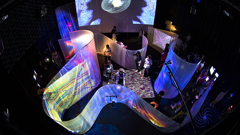 Merril Ellis Intermedia Theater - Featuring Intermedia Concert with Video, Lights, Screens and Colors
