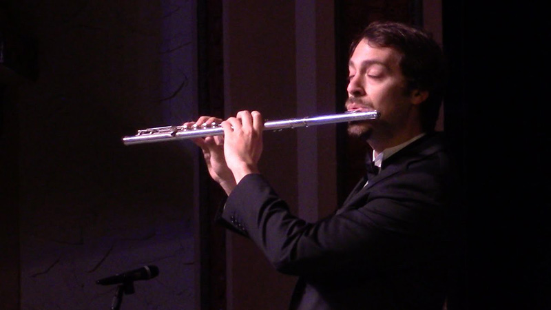 Charles Gibb performing on Flute
