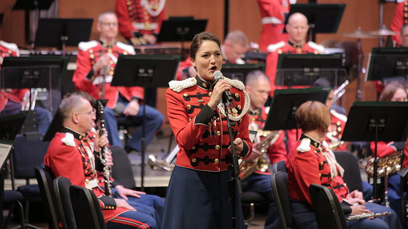 Gunnery Sgt. Sara Sheffield Performs