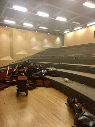 Recital Hall stripped for Renovation