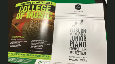 Advertisement for Cliburn International Junior Piano Competition