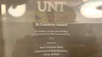 Plaque for IE Celebrity Award