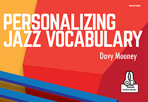 Book Cover - Personalizing Jazz Vocabulary by Davy Mooney
