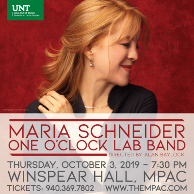 Maria Schneider - One O'CLock lab band performance flyer