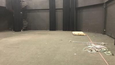 Merril Ellis Intermedia Theater stripped for renovations