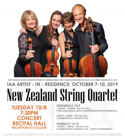 New Zealand String Quartet Promotional Flyer