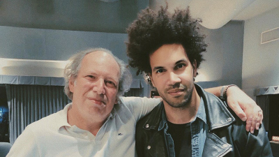 Hans Zimmer and Scott Tixier standing next to each other