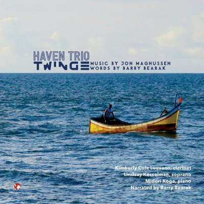 Twinge CD Cover - boat on ocean